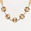 "Necklace, ""halikon kääty"", kalevala koru, bronze."