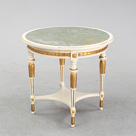 A late gustavian style center table.