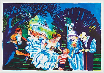 Peter Dahl, lithograph in colours, signed 457/1500.