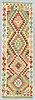 A runner, kilim, ca 199 x 66 cm.