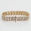Gold and eight-cut diamond bracelet.