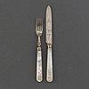 Fruktbestick, 24 delar, pärlemor, silver och nysilver, william hutton & sons  ltd, england, 1914.