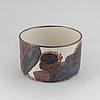 Carl-harry stålhane, a stoneware bowl, deignhuset, signed.