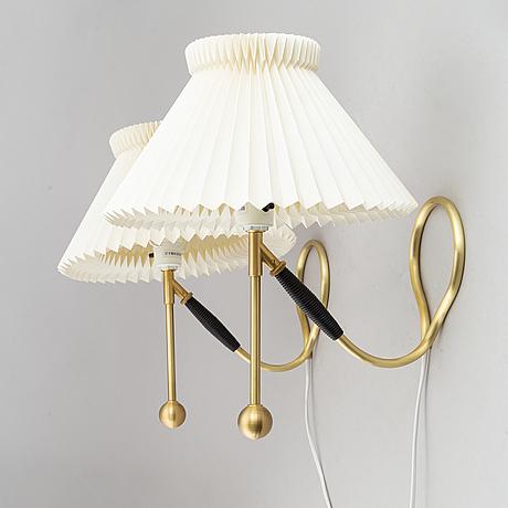 Kaare klint, two table lamps, model 306, le klint, denmark.