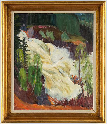 Per englund, oil on board, signed and dated 1948.