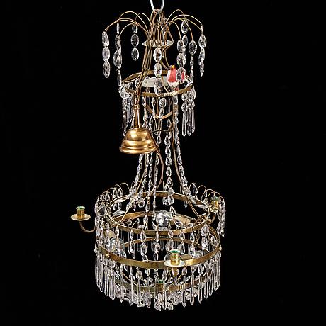 A gustavian style chandelier, 20th century.