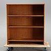 A teak veneered bookcase by hans j wegner, ry möbler, denmark, 1957.
