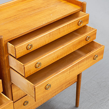 Three teak chest of drawers, 1960's.