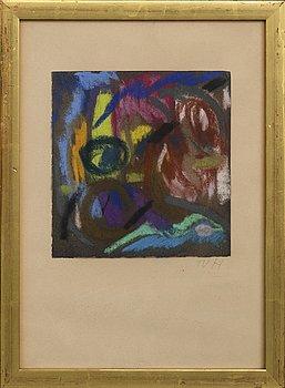 Tora Vega Holmström, pastel, signed.