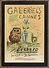 Pablo picasso efter, färglitografi affisch, galerie 65 cannes 1956.