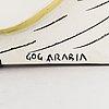 Gunvor olin-grönqvist, a ceramic relief signed gog arabia.