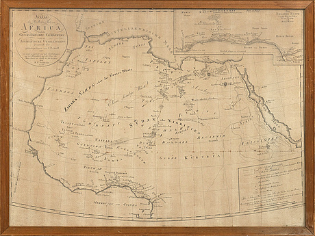 Africa, two maps, 1791 and 1796, copper engraving.