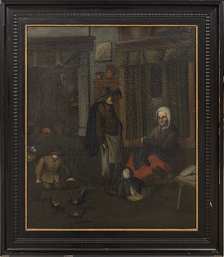 Dutch school, 18th century, oil on relined canvas.