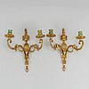 A pair of wall sconces, louis xvi style, early 20th century.
