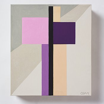 C Göran Karlsson, acrylic on canvas, signed and dated -14.