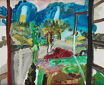 Anders Fogelin, oil on canvas, signed and dated 1967.