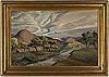 Georg pauli, oil on canvas, signed.