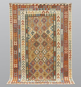 A carpet, kilim, ca 288 x 206 cm.