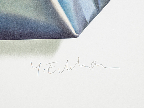 Yrjö edelmann, lithograph in colours, 2001, signed 1336/1500.