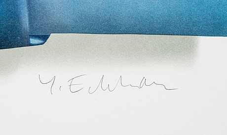 Yrjö edelmann, lithograph in colours, 2003, signed 1368/1500.