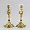 Ljusstakar, ett par, brons, louis xv-stil, omkring år 1900.
