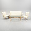 A set of furniture, seven pieces, italy, second half of the 20th century.