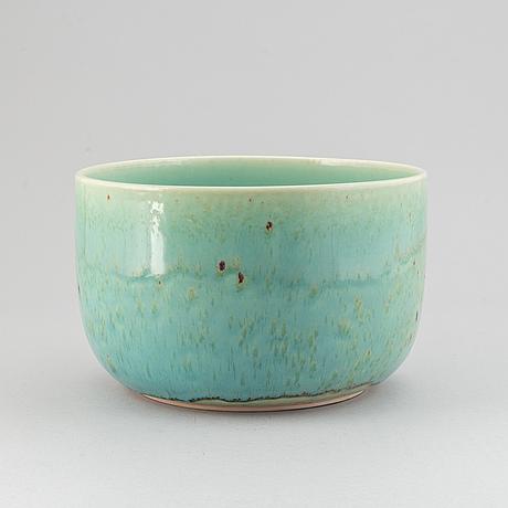 Stig lindberg, a stoneware bowl for gustavsberg studio.