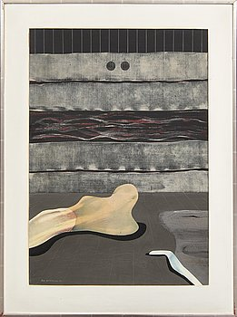 Uno Svensson, acrylic on panel signed and dated 71.