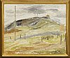 Evert lundquist, oil on canvas signed and dated 1930.