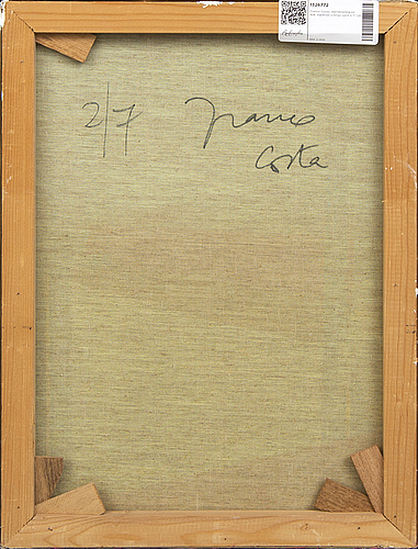 Franco costa, an mixed media on canvas, signed a tergo 2/7.