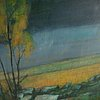 Ilta sorro, oil on canvas, signed and dated -74.
