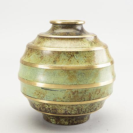 Vase, bronze, art deco, svenska metallverken, 1920's-30's.