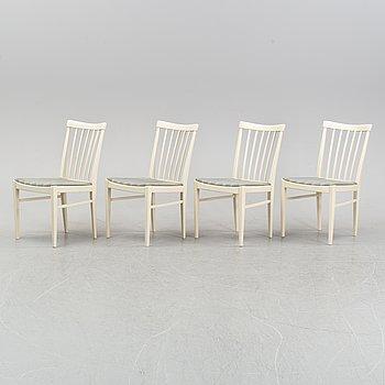 A set of four 'Herrgården chairs by Carl Malmsten for Åfors.