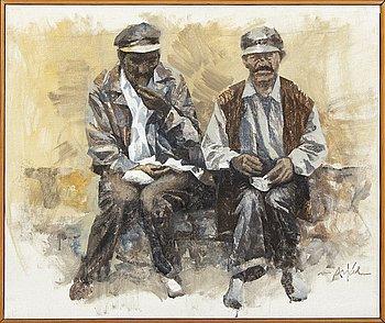 Adrian van Arkel, oil on canvas, signed.