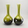A pair of rörstrand creamware vases, circa 1900.