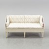 A gustavian sofa, end of the 18th century.