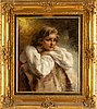 Alexander tolstoy, oil on canvas, signed.