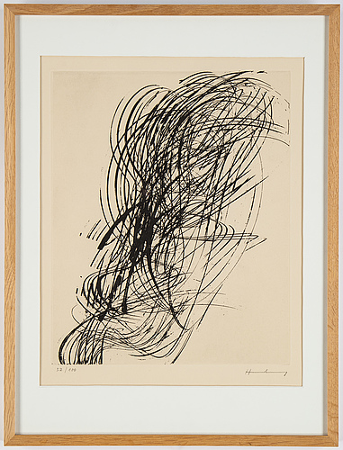 Hans hartung, etching, 1973, signed and numbered 32/100.