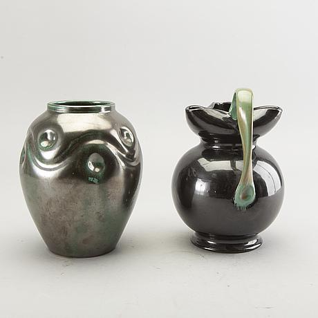 Vaser 2 st, kanna, upsala ekeby.