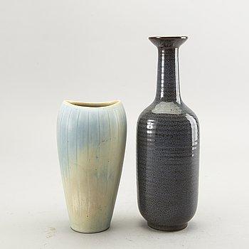 Gunnar Nylund, two stoneware vases from Rörstrand, Sweden.