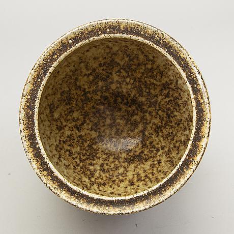 Three signed bowls by kjell bolinder, höganäs.