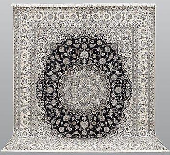 Matto, Nain part silk s.k 6LAA, ca 314 x 259 cm.