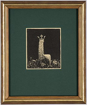 """John Bauer, lithograph, from: """"Troll"""" 1915. Signed JB in the print."""