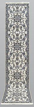 A runner, Nain, part silk, ca 297 x 82 cm.