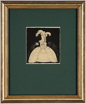 """John Bauer, lithograph from """"Troll"""", 1915, signed B in the print."""