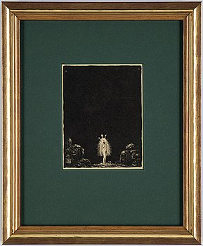 """John Bauer, lithograph, from: """"Troll"""", 1915. Signed J B in the print."""