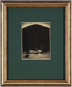 """John Bauer, lithograph, from: """"Troll"""", 1915. Signed B in the print."""