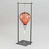 A kjell engman glass sculpture, signed and numbured 54/60.