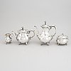 A silver coffee- and tea set, four pieces, swedish import marks, 20th century.