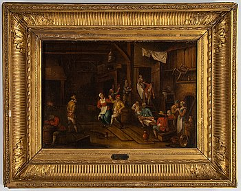 Jan Havicksz. Steen, follower of, oil on canvas.